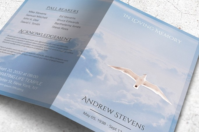 Heaven Funeral Program