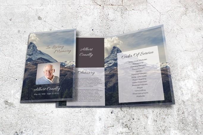 mountain peak funeral