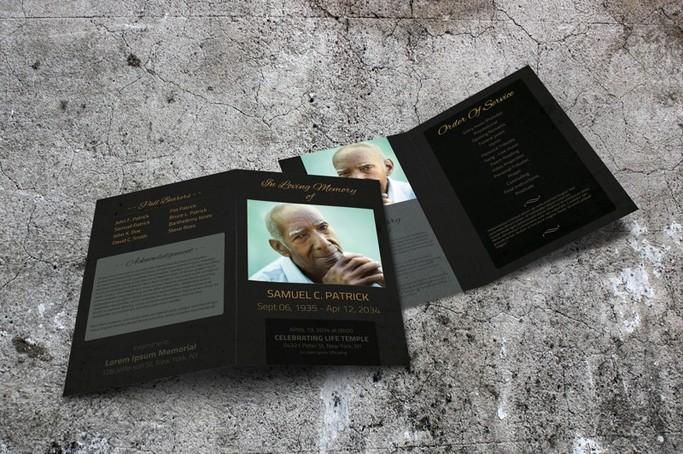 funeral template program