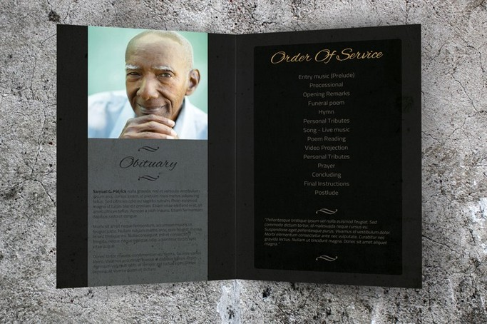 memorial service template