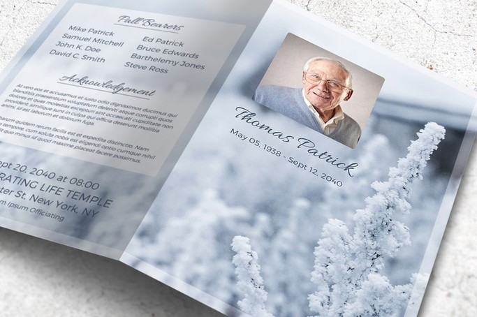 winter funeral program