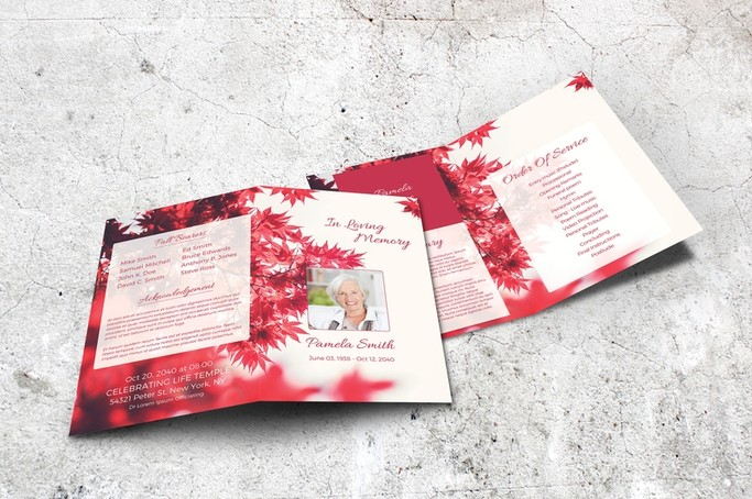 red memorial program template