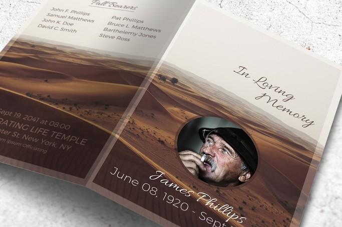 funeral program desert