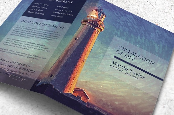 lighthouse funeral template