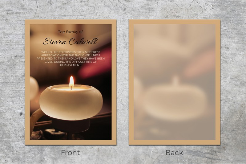 Candle Memorial Card