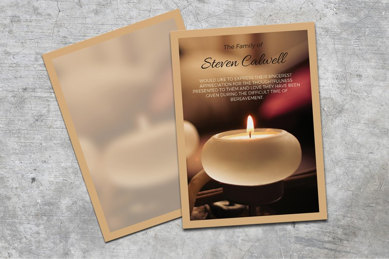 Candle Memorial Thank You Card