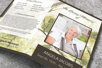 floral funeral template