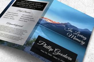 Mountain lake memorial program