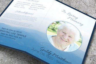 creative funeral template