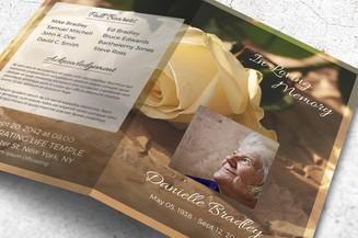 vintage rose funeral