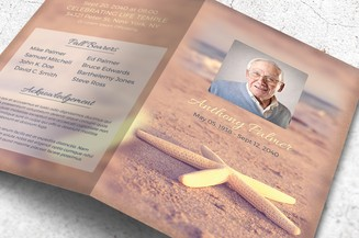 starfish-funeral-program-template