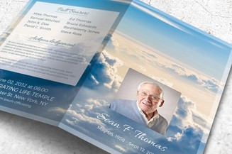 Clouds Funeral Program