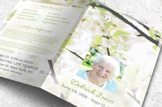 beautiful funeral template