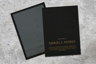 Dust Funeral Card